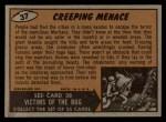 1962 Bubbles Inc Mars Attacks #37   Creeping Menace Back Thumbnail
