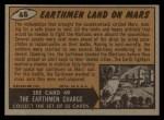 1962 Bubbles Inc Mars Attacks #48   Earthmen Land on Mars Back Thumbnail