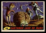 1962 Bubbles Inc Mars Attacks #48   Earthmen Land on Mars Front Thumbnail