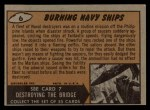 1962 Bubbles Inc Mars Attacks #6   Burning Navy Ships  Back Thumbnail