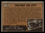 1962 Bubbles Inc Mars Attacks #11   Destroy the City Back Thumbnail