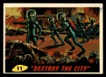 1962 Bubbles Inc Mars Attacks #11   Destroy the City Front Thumbnail