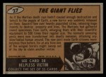 1962 Bubbles Inc Mars Attacks #27   The Giant Flies  Back Thumbnail