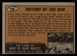 1962 Bubbles Inc Mars Attacks #38   Victims of the Bug  Back Thumbnail