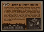 1962 Bubbles Inc Mars Attacks #39   Army of Giant Insects  Back Thumbnail