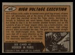 1962 Bubbles Inc Mars Attacks #40   High Voltage Execution Back Thumbnail
