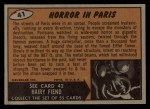 1962 Bubbles Inc Mars Attacks #41   Horror in Paris  Back Thumbnail