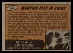 1962 Bubbles Inc Mars Attacks #53   Martian City in Ruins  Back Thumbnail