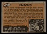 1962 Bubbles Inc Mars Attacks #30   Trapped Back Thumbnail