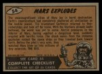 1962 Bubbles Inc Mars Attacks #54   Mars Explodes  Back Thumbnail
