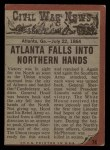 1962 Topps Civil War News #74  Fighting for Victory  Back Thumbnail