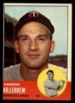 1963 Topps #500   Harmon Killebrew Front Thumbnail