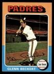 1975 Topps #484  Glenn Beckert  Front Thumbnail