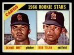 1966 Topps #179  Cardinals Rookies  -  Bobby Tolan / Dennis Aust Front Thumbnail