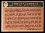 1966 Topps #199  ChiSox Sluggers  -  Johnny Romano / Floyd Robinson / Bill Skowron Back Thumbnail
