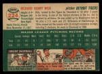 1954 Topps #224  Dick Weik  Back Thumbnail
