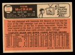 1966 Topps #141   Tom McCraw Back Thumbnail