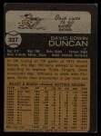 1973 Topps #337  Dave Duncan  Back Thumbnail
