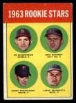 1963 Topps #386 ERR Rookies  -  Ed Kirkpatrick / John Bateman / Garry Roggenburk / Larry Bearnarth Front Thumbnail
