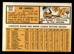 1963 Topps #373   Jim Campbell Back Thumbnail