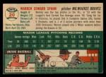 1954 Topps #20   Warren Spahn Back Thumbnail