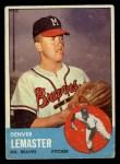 1963 Topps #74   Denver Lemaster Front Thumbnail