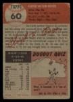 1953 Topps #60   Cloyd Boyer Back Thumbnail