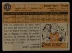 1960 Topps #118  Rookie Stars  -  Bob Bruce Back Thumbnail