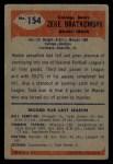 1955 Bowman #154   Zeke Bratkowski Back Thumbnail