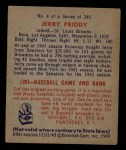 1949 Bowman #4 FRT  Jerry Priddy Back Thumbnail