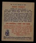1949 Bowman #4 FRT Jerry Priddy  Back Thumbnail