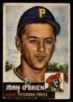 1953 Topps #223  John O'Brien  Front Thumbnail