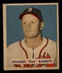 1949 Bowman #213  Red Barrett  Front Thumbnail