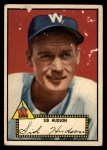 1952 Topps #60 BLK  Sid Hudson Front Thumbnail