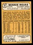 1968 Topps #305  Minnie Rojas  Back Thumbnail