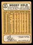 1968 Topps #289  Woodie Held  Back Thumbnail