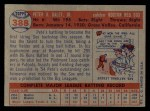 1957 Topps #388   Pete Daley Back Thumbnail