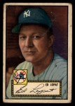 1952 Topps #57 BLK Eddie Lopat  Front Thumbnail