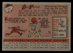 1958 Topps #23 *YN* Bill Tuttle  Back Thumbnail