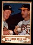 1962 Topps #423  Rival League Relief Aces  -  Roy Face / Hoyt Wilhelm Front Thumbnail