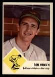 1963 Fleer #2   Ron Hansen Front Thumbnail