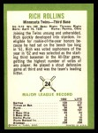 1963 Fleer #24   Rich Rollins Back Thumbnail