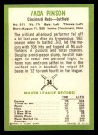 1963 Fleer #34  Vada Pinson  Back Thumbnail