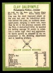 1963 Fleer #52  Clay Dalrymple  Back Thumbnail