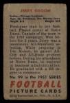 1951 Bowman #99  Jerry Groom  Back Thumbnail