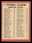 1969 Topps #9  1968 AL Pitching Leaders  -  Denny McLain / Luis Tiant / Dave McNally / Mel Stottlemyre Back Thumbnail