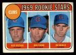 1969 Topps #602 ERR Cubs Rookies  -  Alec Distaso / Don Young / Jim Qualls  Front Thumbnail