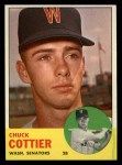 1963 Topps #219   Chuck Cottier Front Thumbnail