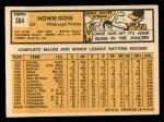 1963 Topps #364   Howie Goss Back Thumbnail