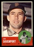 1963 Topps #388 B  Jim Davenport Front Thumbnail